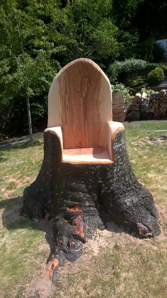 Rustic Furniture Harman Tree Surgery, Tree Trunk Garden Furniture Uk